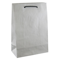 Deluxe White Kraft Paper Bags - Junior