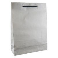 Deluxe White Kraft Paper Bags - Medium
