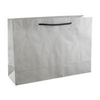 Deluxe White Kraft Paper Bags - Medium Boutique
