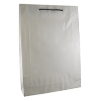 Deluxe White Kraft Paper Bags - Large