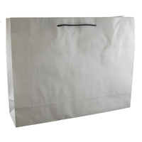 Deluxe White Kraft Paper Bags - Boutique