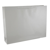 White Glossy Laminated Paper Bags - Large Boutique