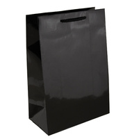 Black Glossy Laminated Paper Bags - Baby