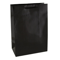 Black Glossy Laminated Paper Bags - Small