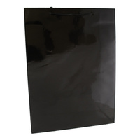 Black Glossy Laminated Paper Bags - Medium