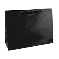 Black Glossy Laminated Paper Bags - Small Boutique