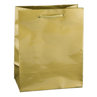 Gold Glossy Laminated Paper Bags - Baby