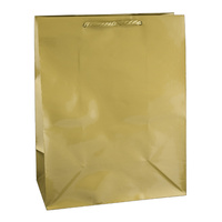 Gold Glossy Laminated Paper Bags - Medium