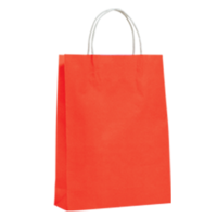 Red Kraft Paper Bags - Medium
