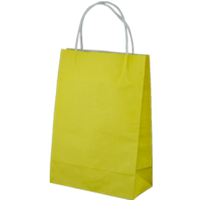 Yellow Kraft Paper Bags - Junior