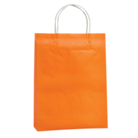Orange Kraft Paper Bags - Medium