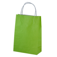 Lime Kraft Paper Bags - Junior