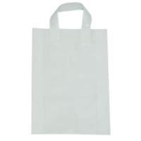 White Plastic Bag with Soft Handle - Large