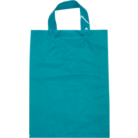 Blue Plastic Bag with Soft Handle - Large