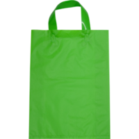 Lime Plastic Bag with Soft Handle - Large