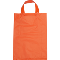 Orange Plastic Bag with Soft Handle - Large