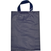 Purple Plastic Bag with Soft Handle - Large