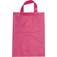 Pink Plastic Bag with Soft Handle - Large