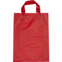 Red Plastic Bag with Soft Handle - Large