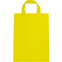Yellow Plastic Bag with Soft Handle - Large