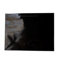 Laminated Gloss Ruby Black Paper Bag