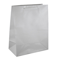 White Glossy Laminated Paper Bags - Medium