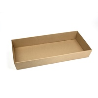 Brown Catering Tray - Large with Clear PET Lid, 50 sets