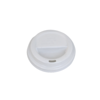 Flat Lid For 6oz/8oz Coffee Cup - White