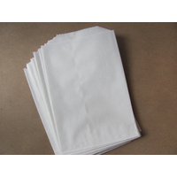 1F White Flat Bag, 500 pcs