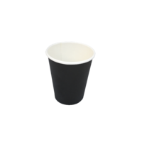 Black Single Wall Coffee Cup 4oz