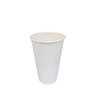 White Single Wall Coffee Cup 16oz