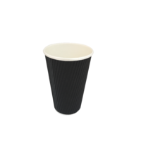 Black Triple Wall Coffee Cup 8oz