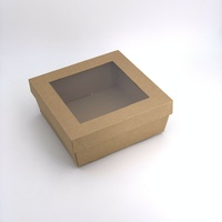 Square Catering Tray - Small with Kraft Window Lid