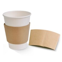 Brown Kraft Cup Sleeve For 12/16oz Coffee Cup