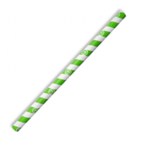 Jumbo Paper Straw - Green Stripe