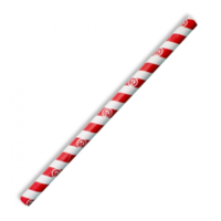 Jumbo Paper Straw - Red Stripe