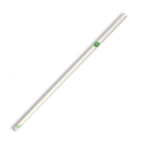 Regular Paper Straw - White