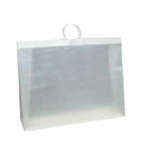 White Frosted Plastic Bag - L (Rigid Loop Handle)