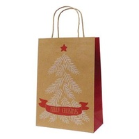 Xmas Tree Kraft Paper Bag - Junior, 100 pcs