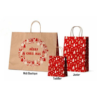 Xmas Gnome Kraft Paper Bag - Junior, 100 pcs