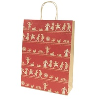 Xmas 12 Days Kraft Paper Bag - Midi, 100 pcs