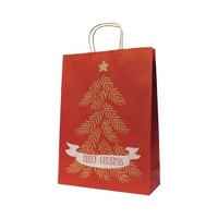 Xmas Tree Kraft Paper Bag - Midi, 100 pcs