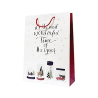 Xmas Snow Globes White Paper Bag - Midi, 100 pcs