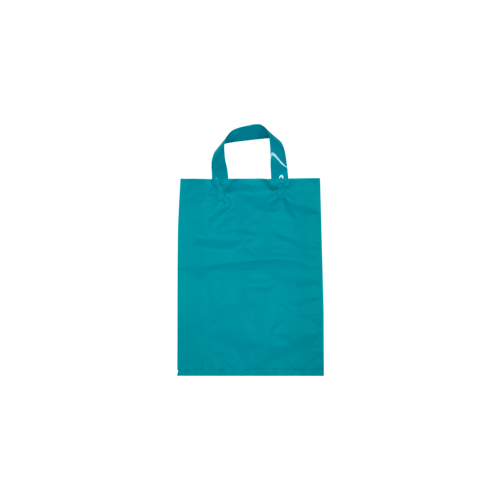 Blue Plastic Bag with Soft Handle - Small