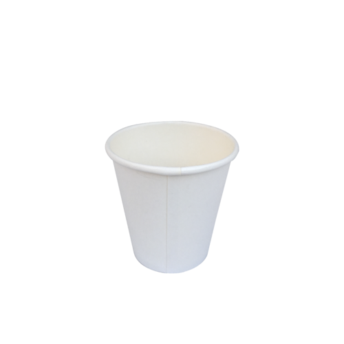 White Single Wall Coffee Cup 6oz