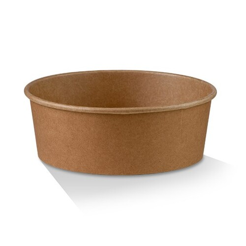 PLA Coated Kraft Salad Bowl 25oz - 750ml