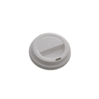 Flat Lid For 12oz/16oz Coffee Cup - White